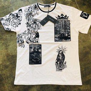 Dolce & Gabana Casual T-shirt Men's %95 Cotton